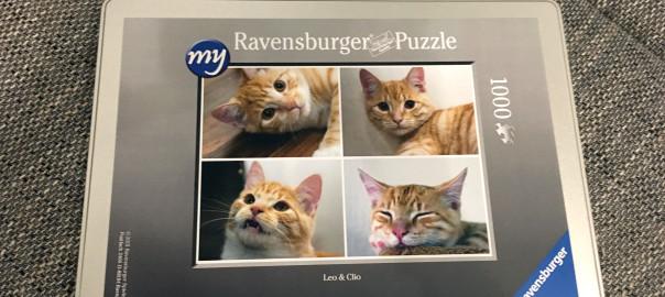 Unser Ravensburger Puzzle mit Leo und Clio