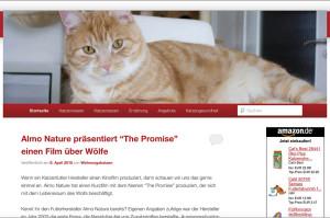 Screenshot der alten Version von wohnungskatzen-online.de