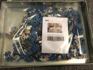 Viele einzelne Puzzleteile: Das 1.000 Teile Puzzle
