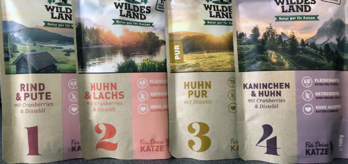 Wildes Land Katzenfutter: 4 Sorten Nassfutter