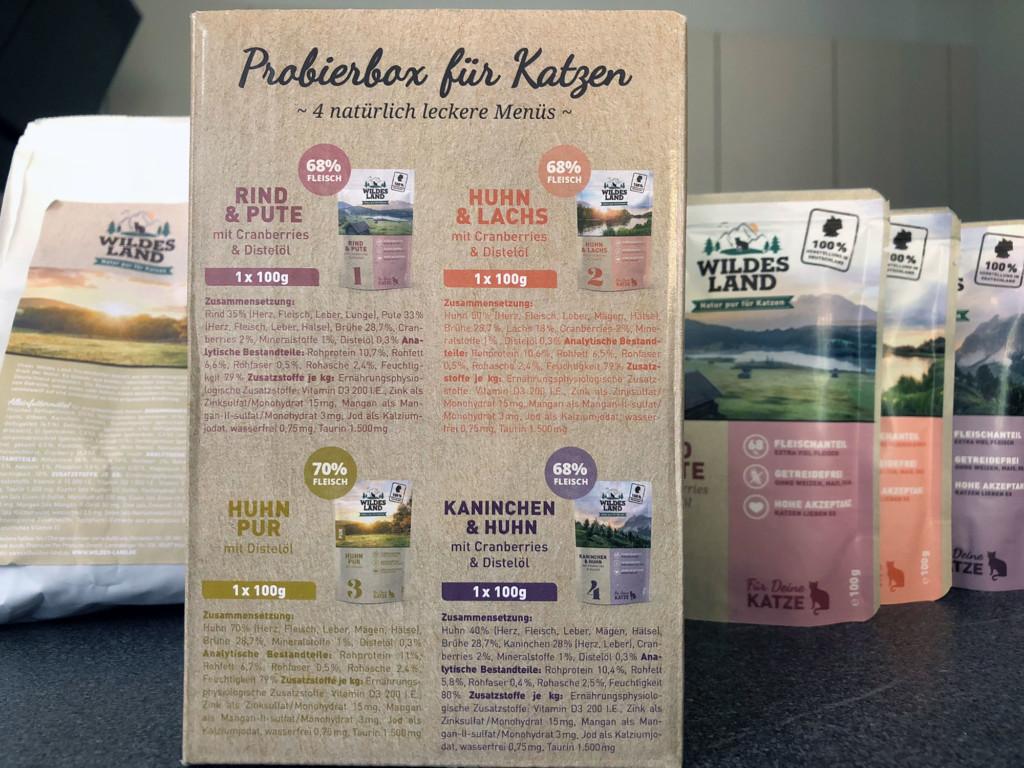 Wildes Land Katzenfutter: Die Probierbox